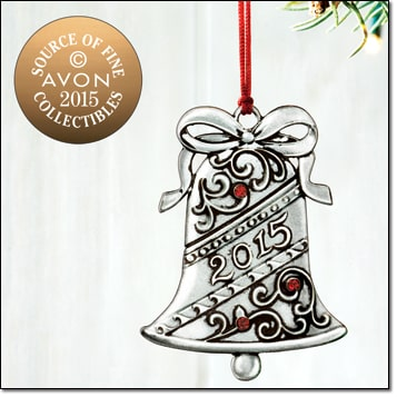 Avon Pewter Christmas Ornaments - 2015 Collectible