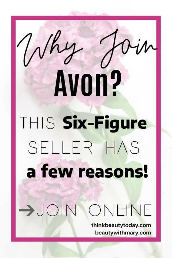Thinking about selling Avon? Learn how becoming an Avon rep (and a 6-figure seller) changed my life- and how to start your business today! #Avon #Representative #WorkOnline #SideHustle #beautyblogger