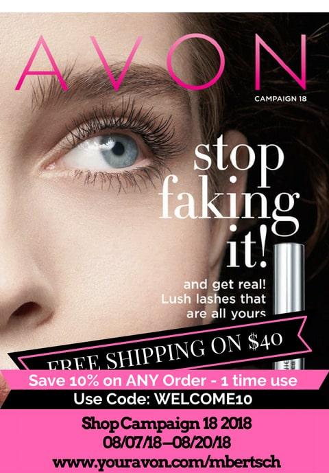 NEW Avon Campaign 18 2018 Brochure is Out - Shop Avon Brochure online 8/7 - 8/20/2018. #shopavon #avoncatalog #avon #onlineshopping #makeup #sales
