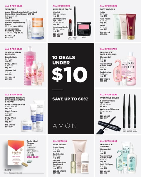 Under 10 Dollar Gifts - Ideas for Christmas Stocking Stuffers. Cheap gifts from #Avon for friends and family. #under10dollars #giftsunder10 #giftsunder10dollars #teachergift #stockingstuffer #AvonChristmas #dealsunder10 #AvonDeals