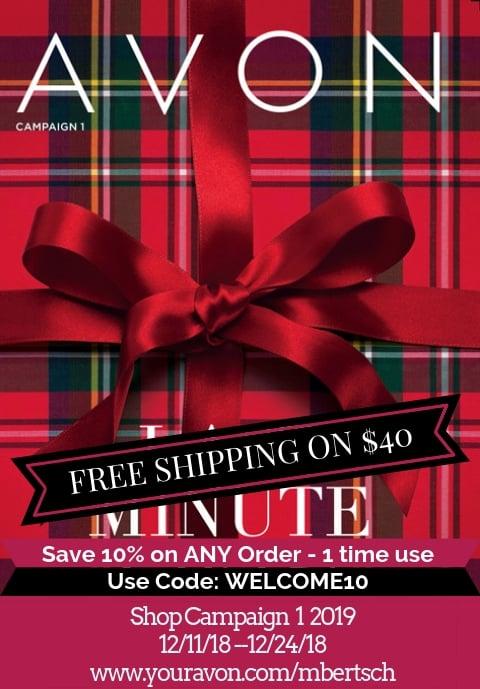 Avon Catalog Campaign 1 2019 is online 12/11 - 12/24/18