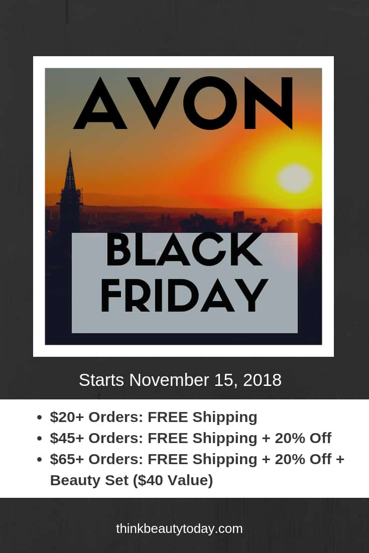 Avon Black Friday 2018 Sale and Coupon Codes start November 15, 2018. BEST Black Friday Ideas for free shipping and 20% discount on online orders. #blackfriday #blackfridaysale #blackfridayideas #avon #AvonBlackFridaySale #AvonBlackFridayIdeas #BlackFriday2018