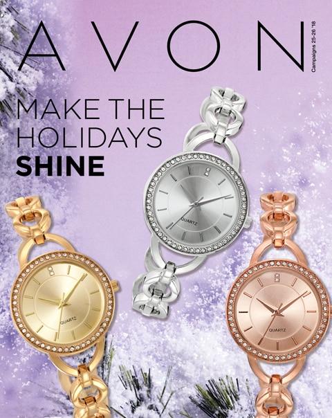 Avon Flyer - Make the Holidays Shine - Campaign 25 2018. #AvonChristmasGifts #AvonFlyers #AvonHoliday #AvonRep
