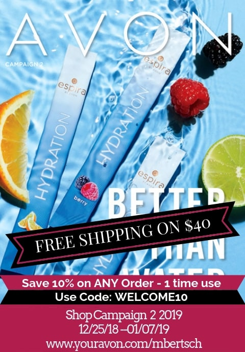 Avon Catalog Campaign 2 2019 is online 12/25 - 01/07/19. Shop Avon Online with free shipping on $40.