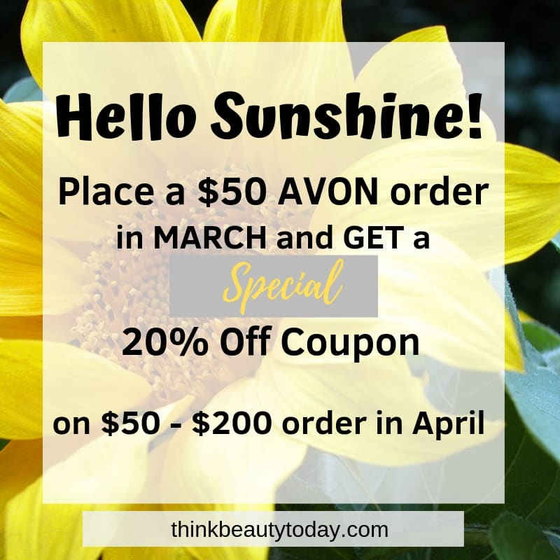Avon March 2019 Discount Offer